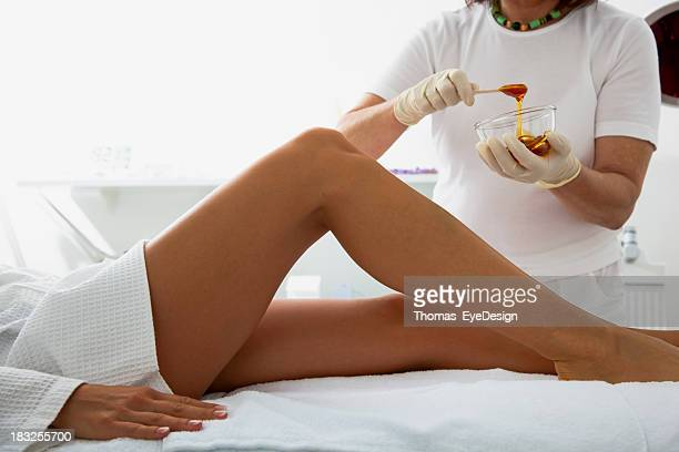 Woman About to Receive a Waxing Treatment