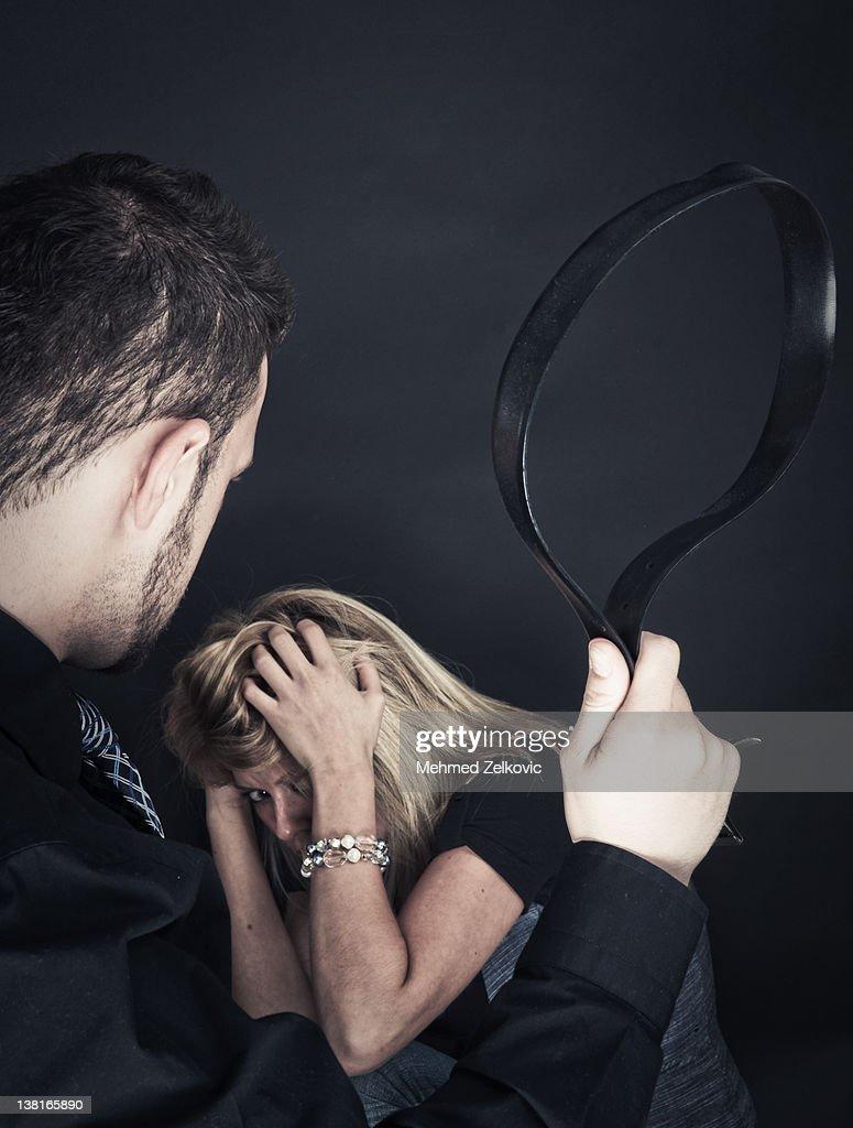 Woman abuse : Stock Photo