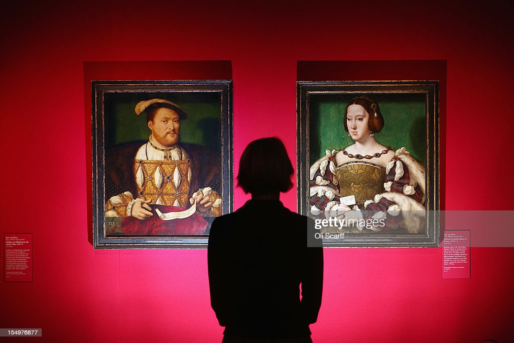 A woman admires paintings by Joos van Cleve entitled 'Henry VIII' (L) and 'Eleanora of Austria, Queen of France' in the exhibition 'The Northern Renaissance: Durer to Holbein' at The Queen's Gallery on October 29, 2012 in London, England. The exhibition, which celebrates the Renaissance in Northern Europe through work by some of the finest artists of the era, opens to the general public on November 2, 2012 and runs until April 14, 2013.