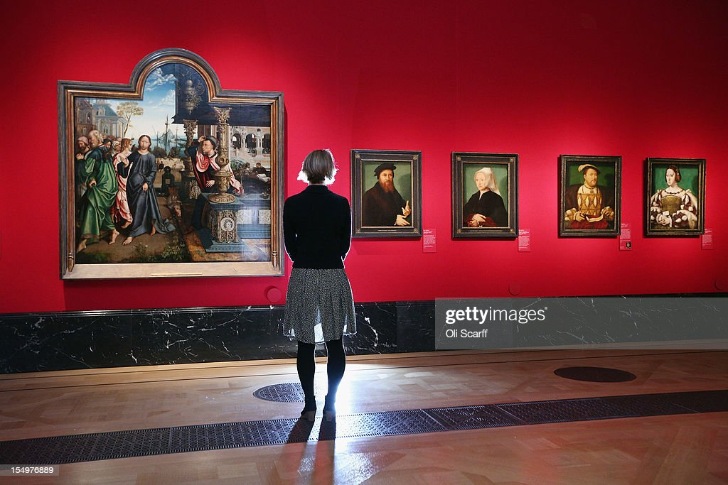 A woman admires paintings in the exhibition 'The Northern Renaissance: Durer to Holbein' at The Queen's Gallery on October 29, 2012 in London, England. The exhibition, which celebrates the Renaissance in Northern Europe through work by some of the finest artists of the era, opens to the general public on November 2, 2012 and runs until April 14, 2013.