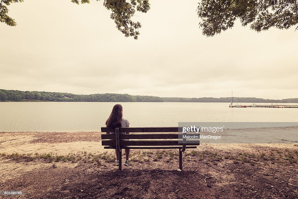 Woman alone on a bench