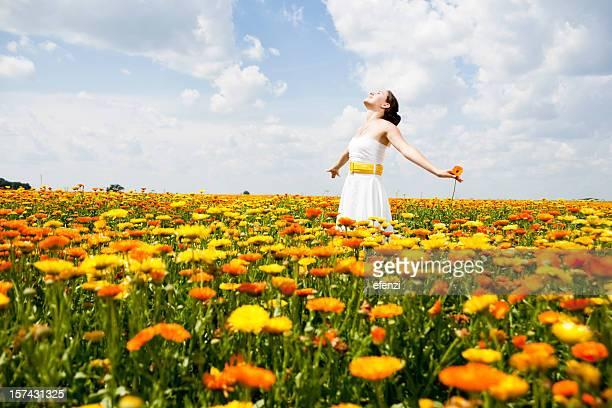 Woman Among Flowers