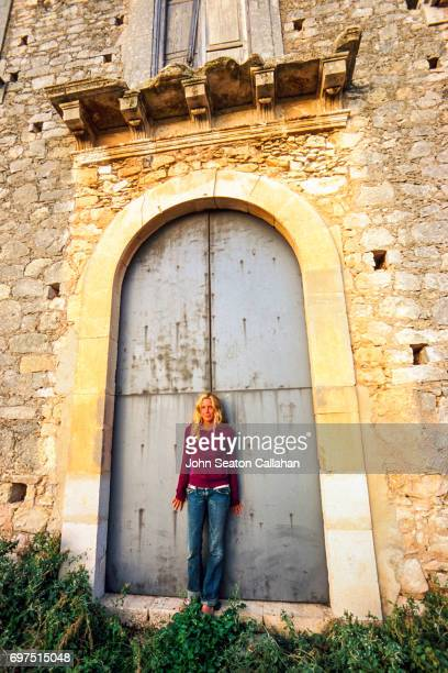 Woman and Building in Noto