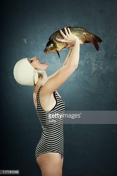 Femme et de poisson