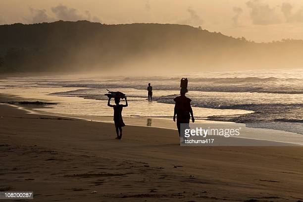 Woman and Girl on Busua Beach