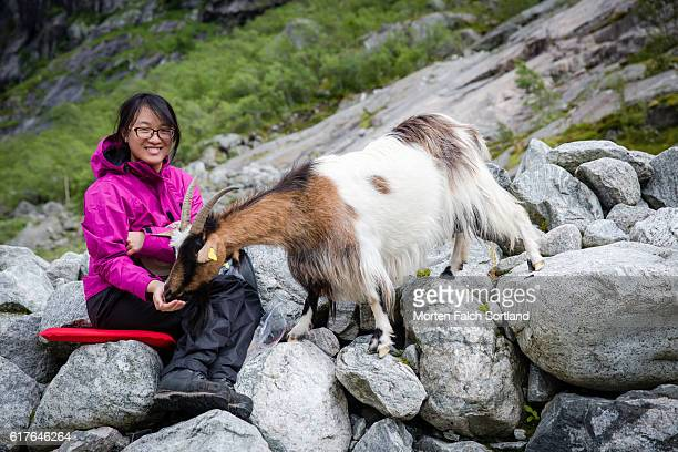 Woman and goat