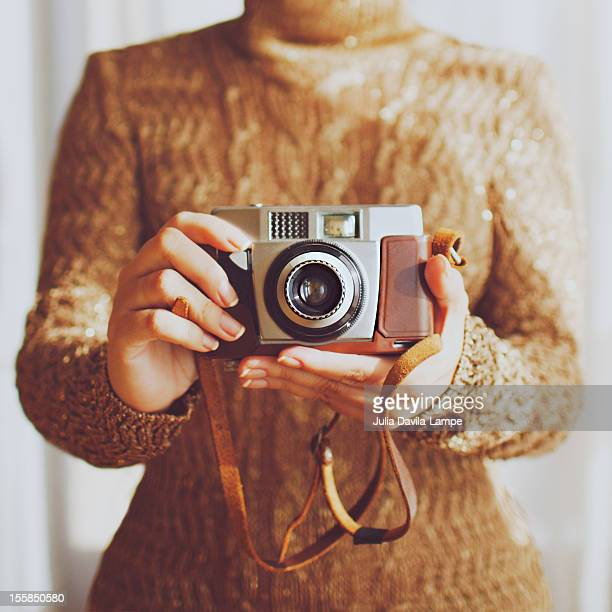 Woman and her camera