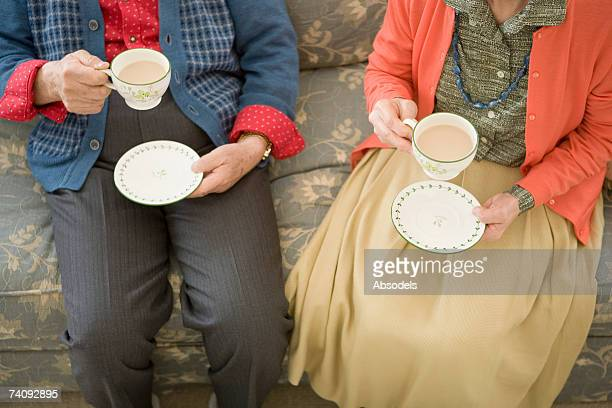 A woman and man having coffee