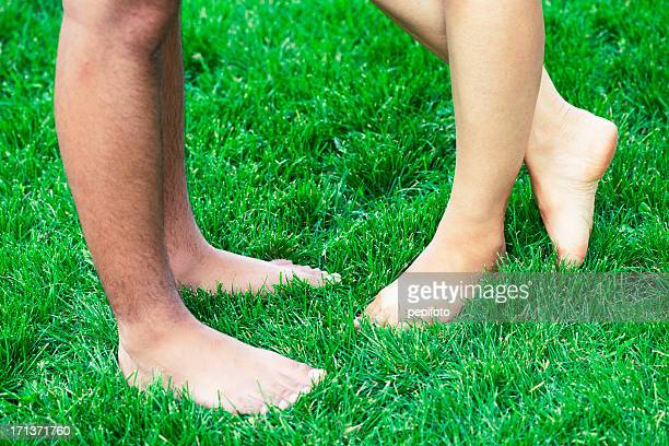 Donna e uomo con gambe