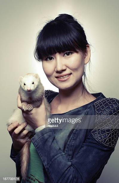 Woman and Mink