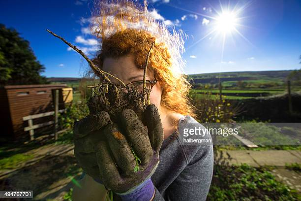 Woman and Parsnip