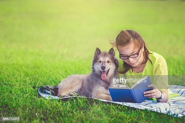 woman and pet haing fun