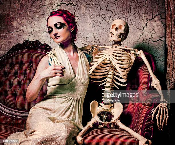 Woman And Skeleton