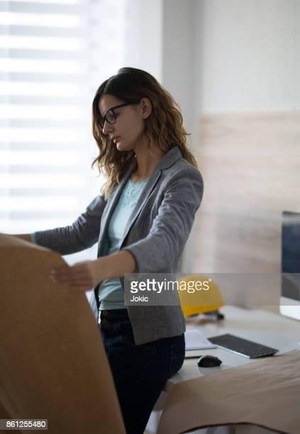 Woman architect working