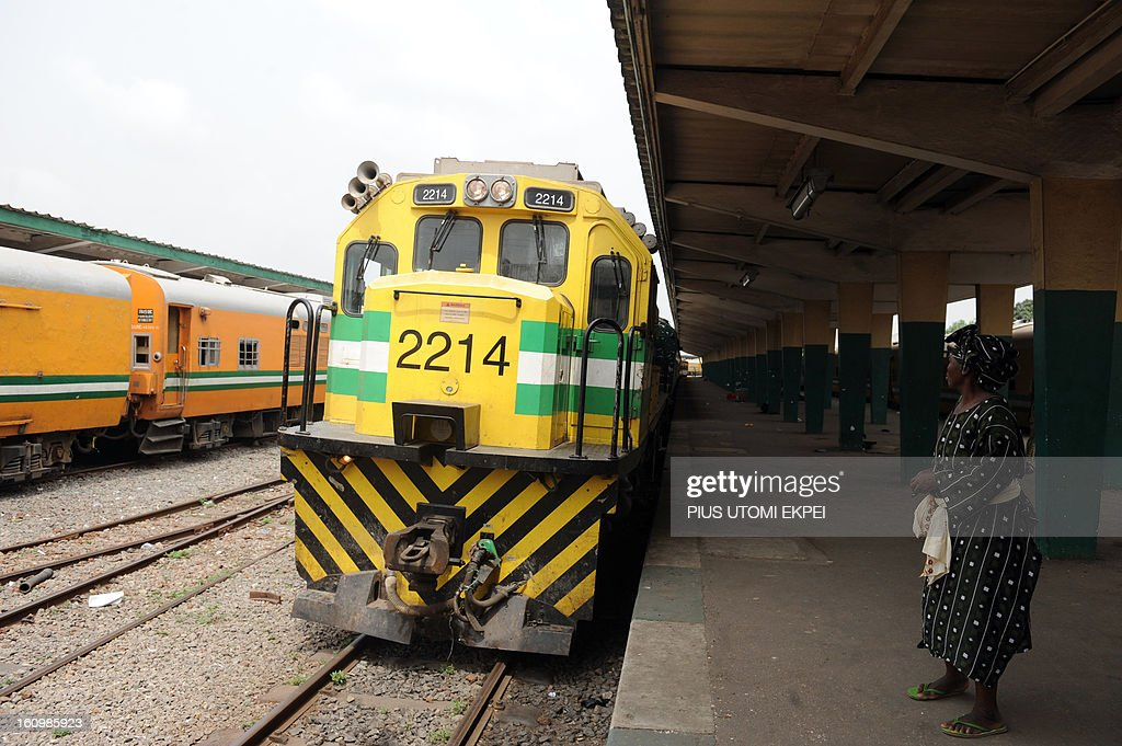 A woman arrives at Lagos Terminal to board a train on February 8, 2013. The rejuvenated Nigerian Railway Corporation has commenced operation of mass transit on the Lagos-Kano route, Nigeria's major commercial cities. The state-owned corporation which went into bankruptcy during the last 20 years due to lack of maintenance of infrastructure and high numbers of employees also began haulage of petroleum products from Lagos to the Northern part of the country. Earlier last year, the Railway Corporation had acquired 20 pressurised tank wagons as it prepared to commence the fuel haulage. The 20 wagons have the capacity to lift 900,000 litres of petroleum products, the equivalent of 27 road tankers.