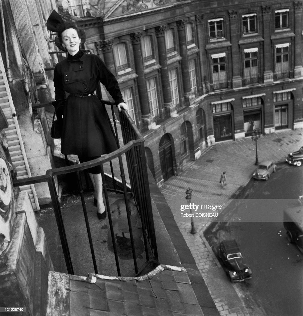 Woman At A Balcony, Hotel Ritz, Place Vendome, Paris