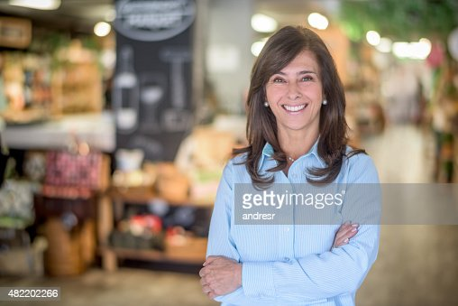 Woman at a food market grocery shopping