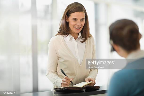 Woman at a reception
