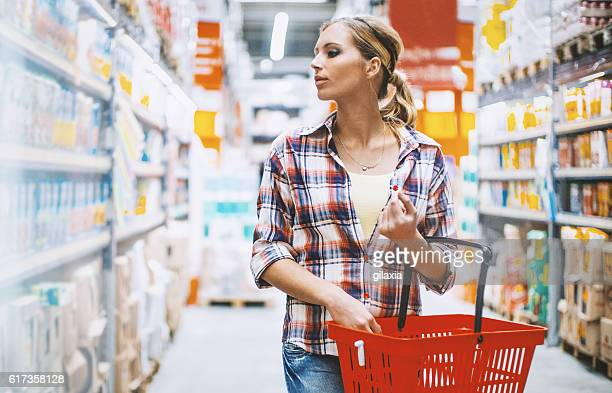 Woman at a supermarket.