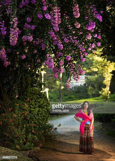 Woman at a tea plantation