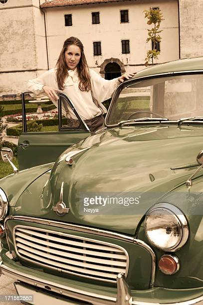 Woman at a Vintage Car