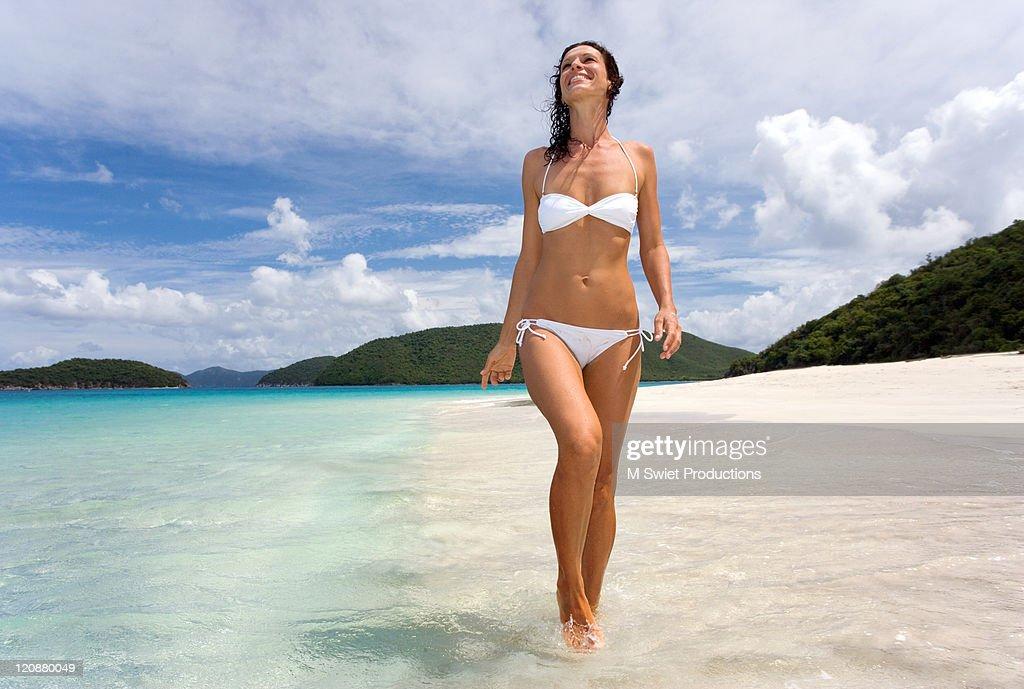 Woman at beach : Stock Photo