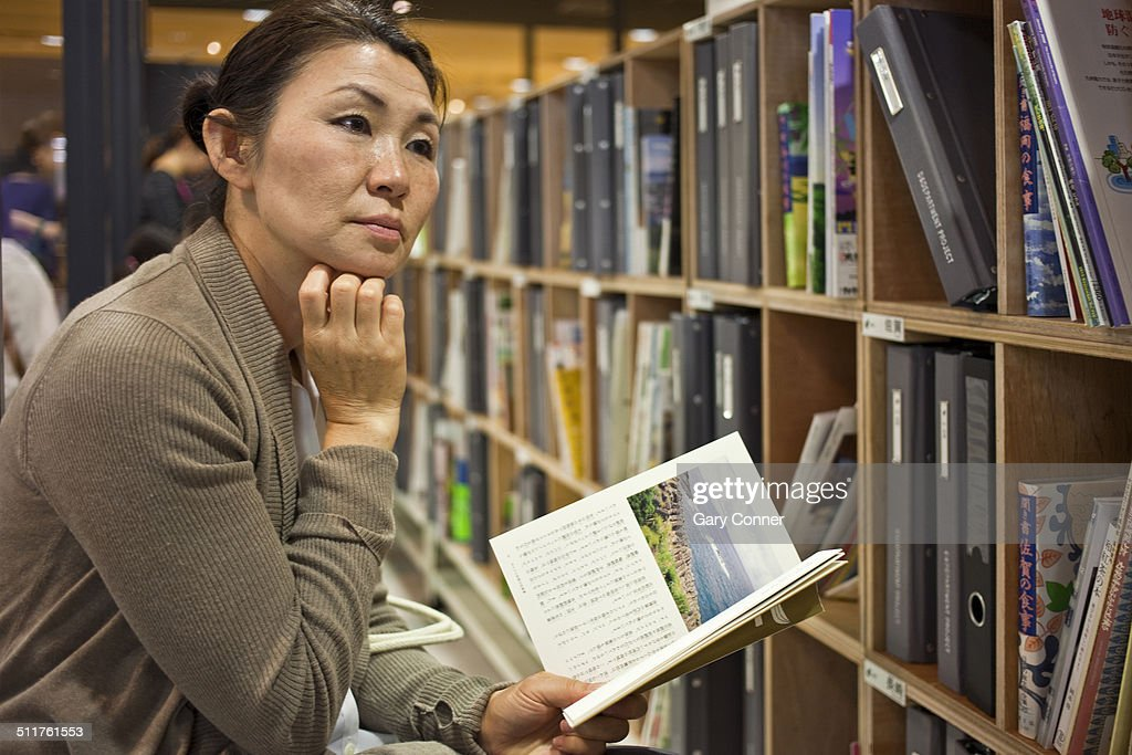 Woman at bookstore