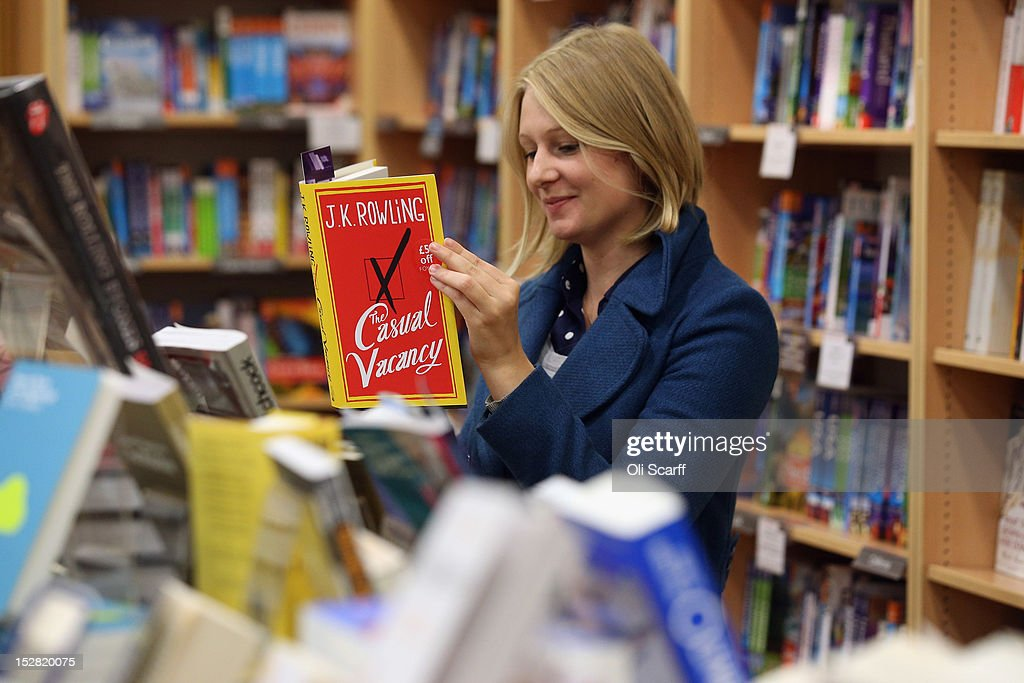 A woman at Foyles bookshop looks at a copy of JK Rowling's latest novel 'The Casual Vacancy' which has gone on sale today starting at 8:00 am on September 27, 2012 in London, England. 'The Casual Vacancy' is JK Rowling's first book aimed at an adult readership and is centered on a parish council election in a small West Country town.