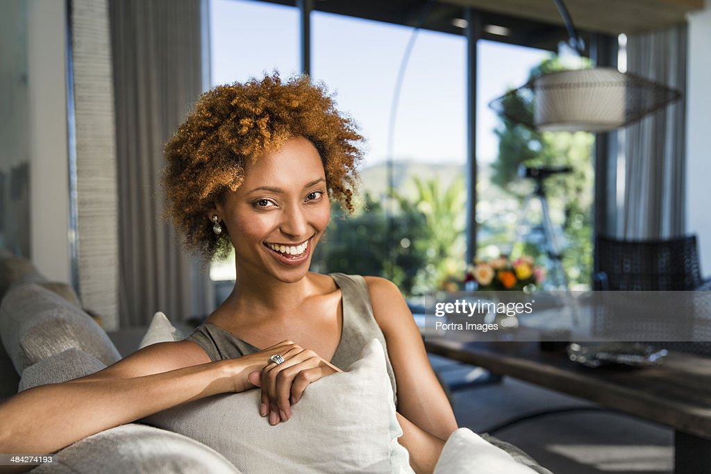 Woman at home. : Stock Photo