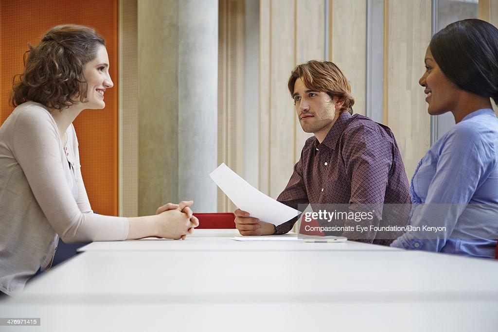 Woman at job interview