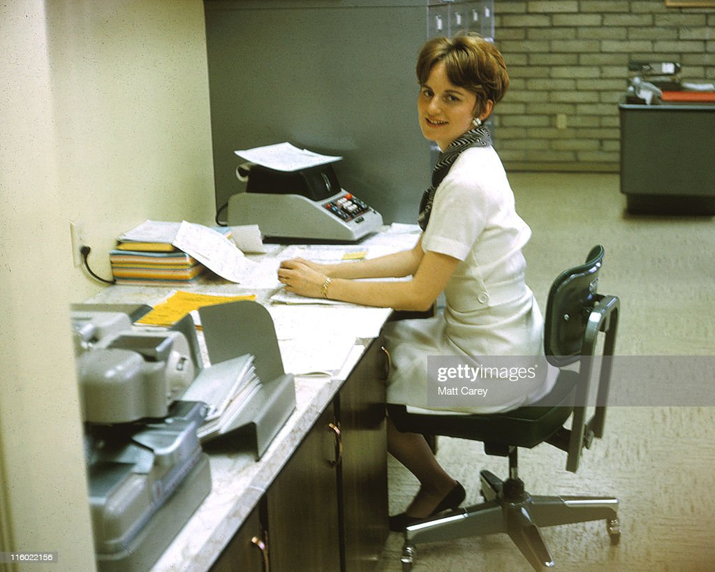 Woman at office : Stock Photo