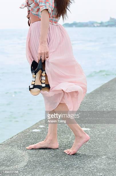 Woman at sea side