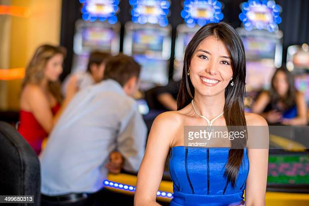 Woman at the casino