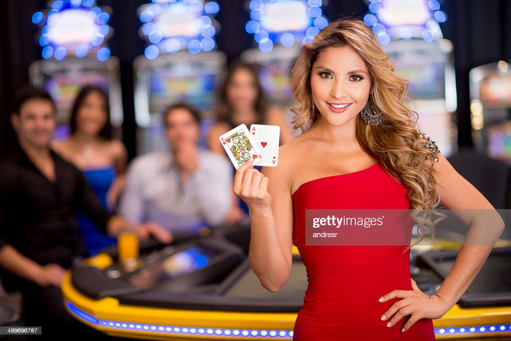 Femme au casino : Photo