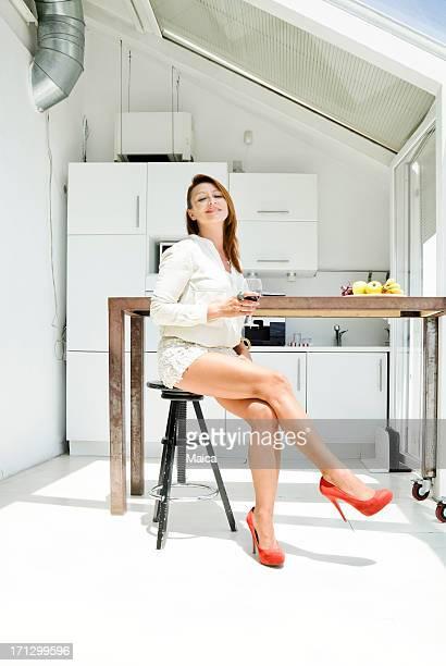 女性には、キッチンを完備。