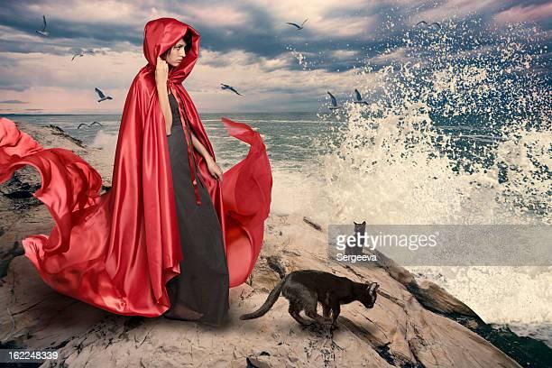Frau am Meer