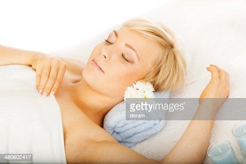Woman at the spa : Stock Photo