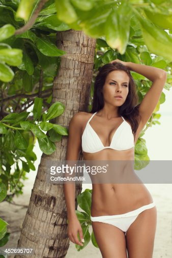Woman at the tropical : Stock Photo