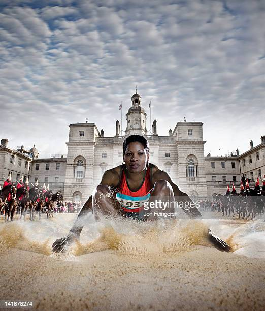Woman Athlete Long Jump