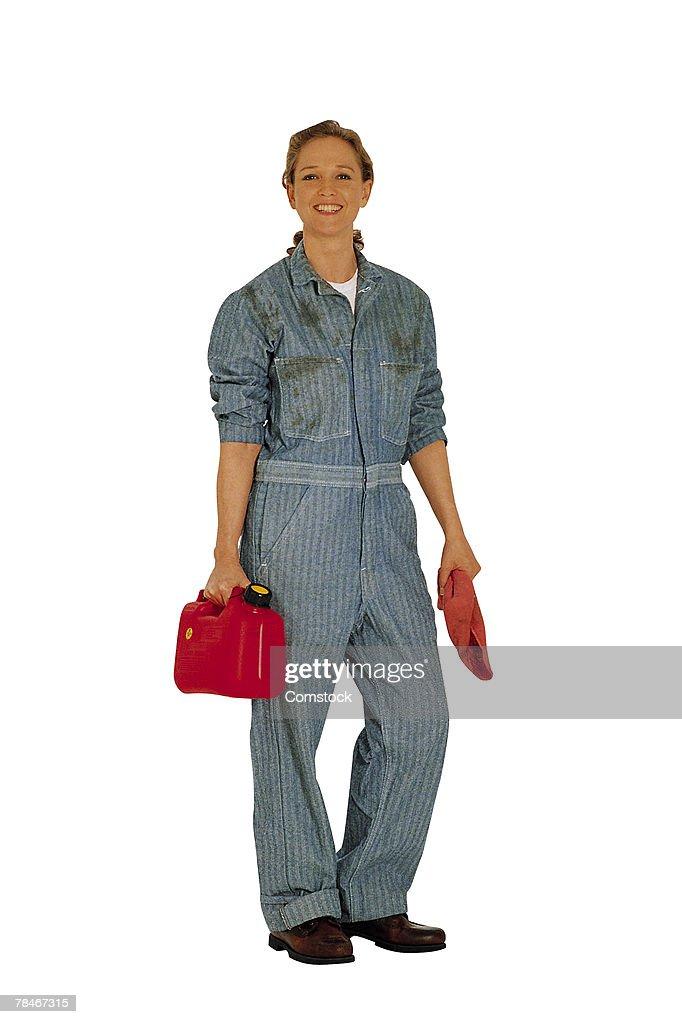 Woman auto mechanic