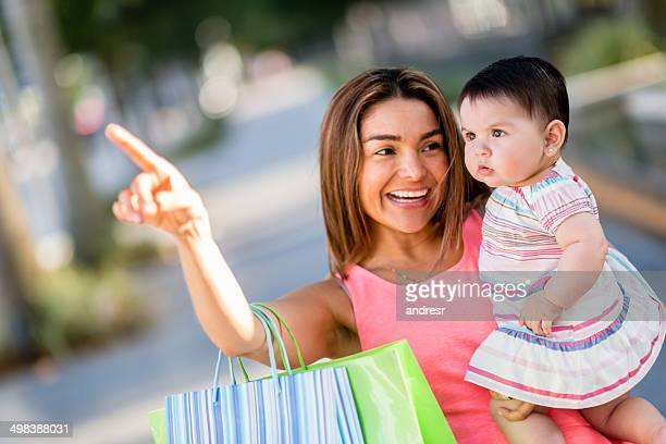 Woman baby shopping
