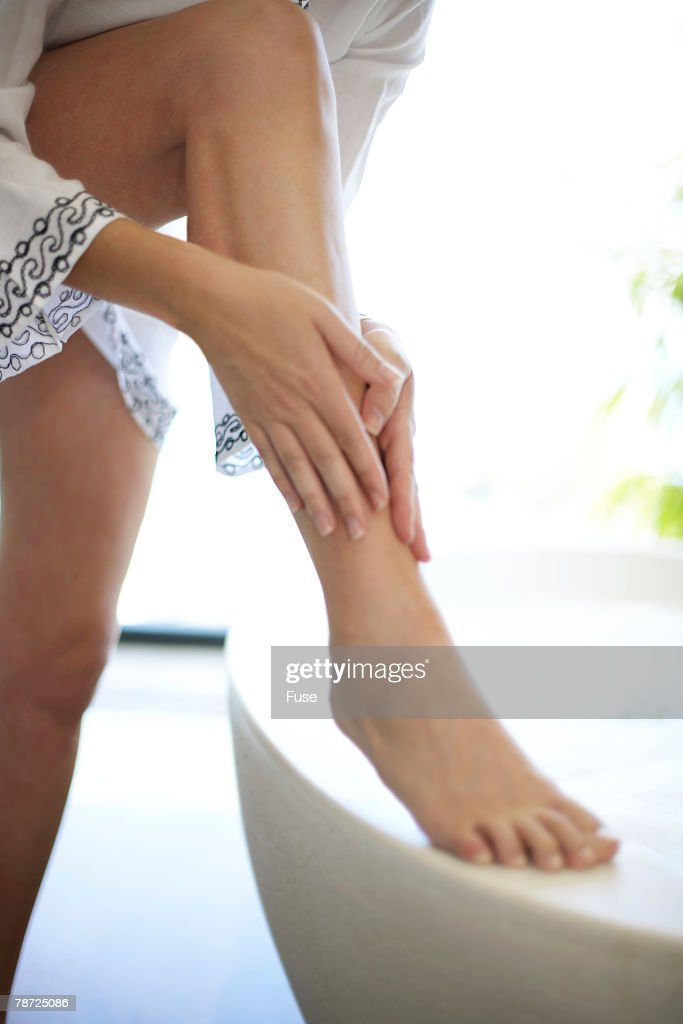Woman Bathing : Stock Photo