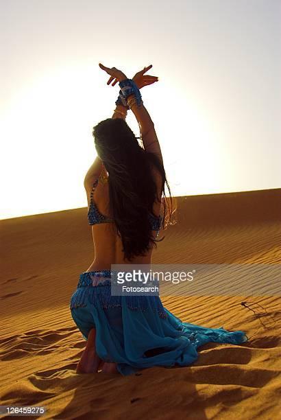 woman, belly, sand, desert, dancer, arabic