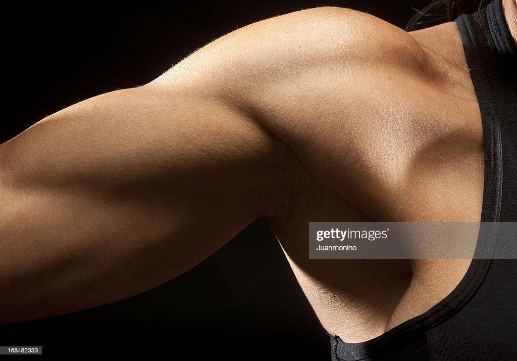 Woman biceps muscle