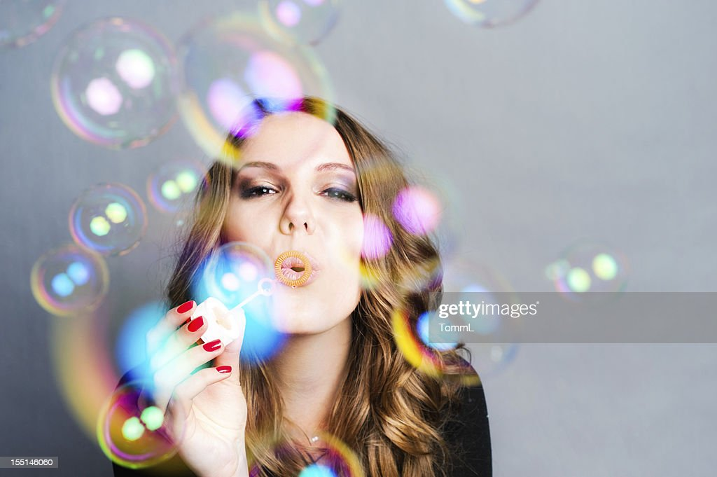 Woman Blow Bubbles
