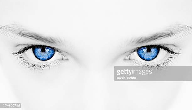 woman blue eyes