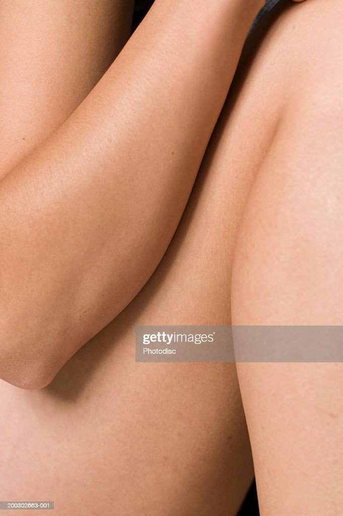 Woman body, close-up, mid section : Stock Photo