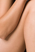 Woman body, close-up, mid section