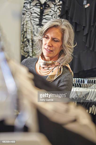 Woman browsing inside store