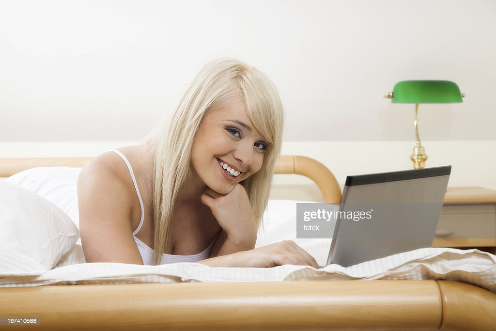 Woman browsing internet : Stock Photo